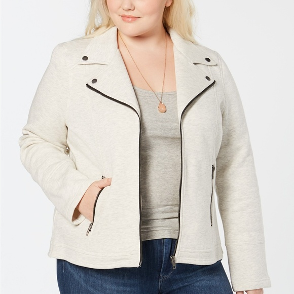 Style & Co Jackets & Blazers - Style & Co Plus Size French-Terry Moto Jacket 4X